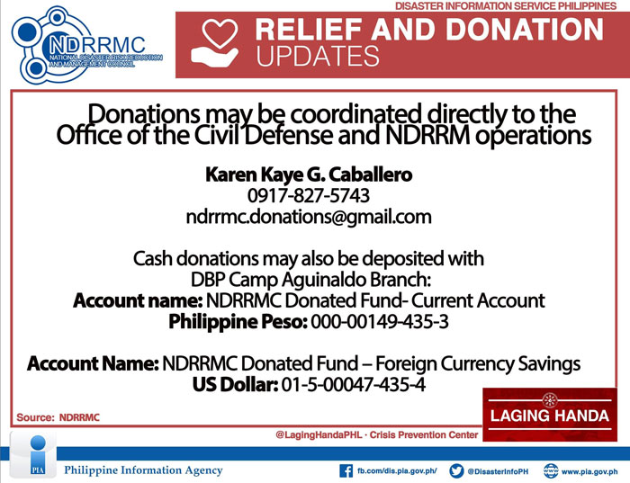 relief and donations