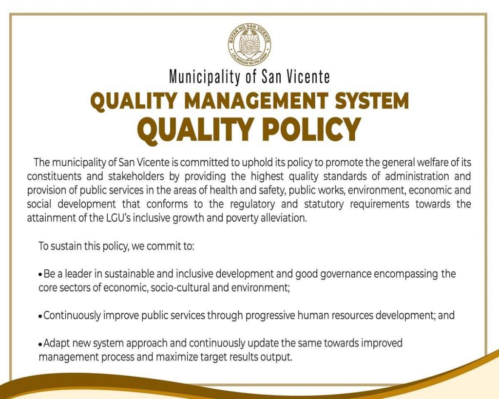 san-vicente-palawan-quality-management-system-quality-policy