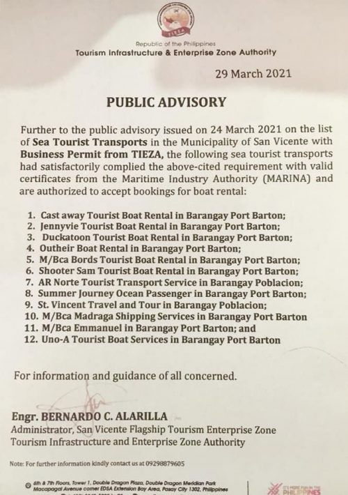 san-vicente-palawan-list-of-seat-transports-with-business-permit