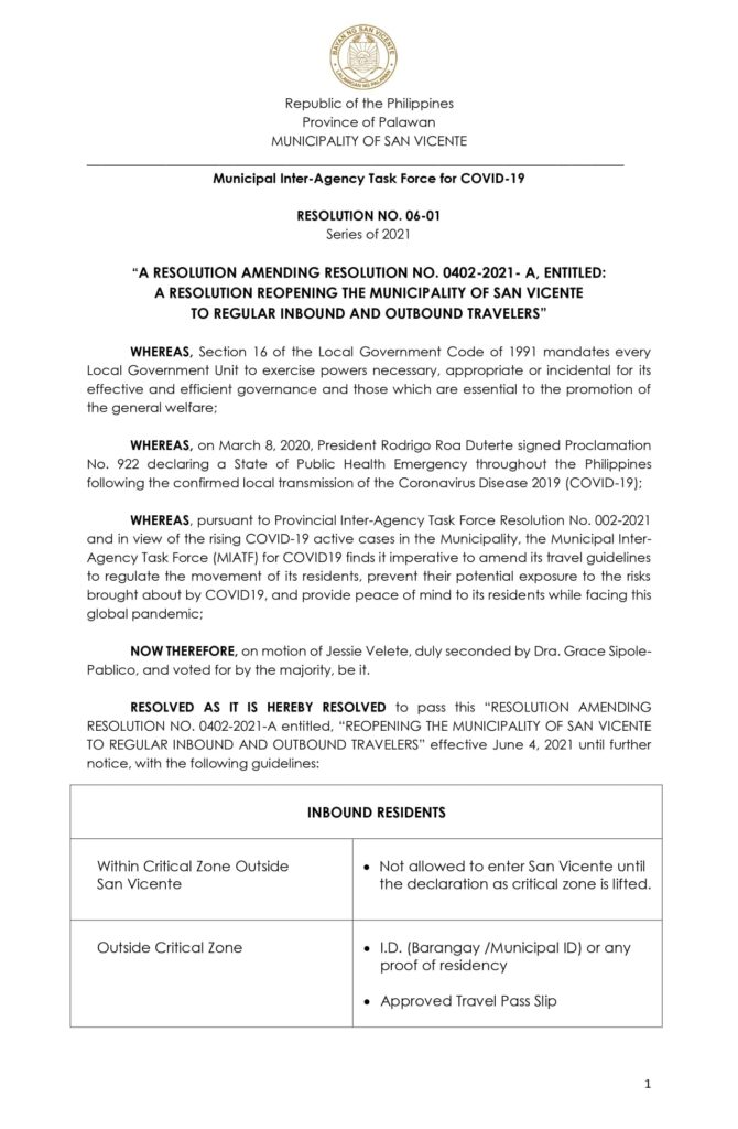 san-vicente-palawan-new-travel-guidelines